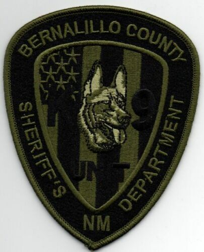 NEW MEXICO NM BERNALILLO COUNTY SHERIFF K-9 SUBDUED SWAT STYLE NICE PATCH POLICE