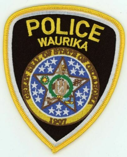 WAURIKA OKLAHOMA OK POLICE NEW PATCH SHERIFF