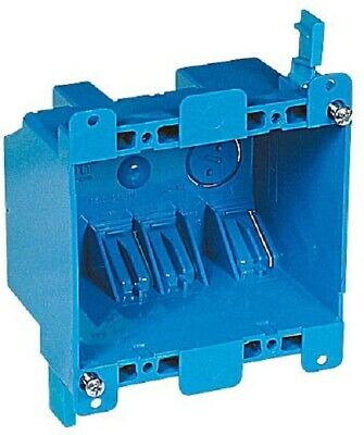Carlon B225r-upc Switchoutlet Box Old Work 2 Gang Blue 2 3 Pack