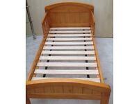 Pine solid toddler bed frame.