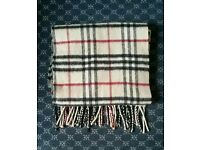 Burberry Scarf 100% Cashmere Unisex