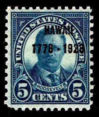 US.# 648 Hawaii Sesquicentennial Overprint - OGLH - VF - CV$11.00 (ESP#0967)
