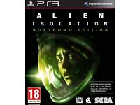 ALIEN ISOLATION NOSTROMO EDITION GAMES FOR PS3 OR XBOX 360 SEALED