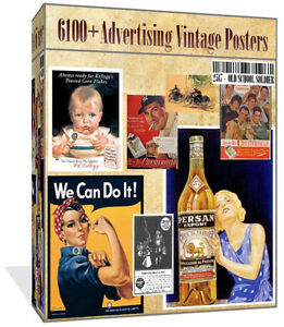 Over-6100-Old-Advertising-Images-Posters-On-CD-Vintage-Art-Cardmaking