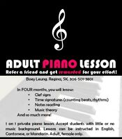 Keep learning, keep GROWING! Adult piano lessons - FEMALE ONLY