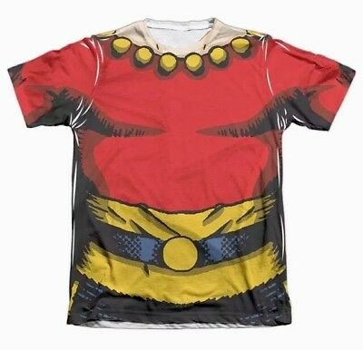 FLASH GORDON COMIC COSTUME Big Print Cotton T-Shirt! HALLOWEEN! Men's L NEW