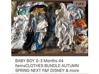 BABY BOYS CLOTHES BUNDLE 0-3 Months very good condition