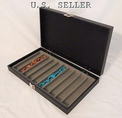 10 Slot Necklacebracelet Traveling Display Case Gray