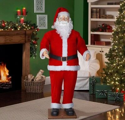 Enthusiasm Evaluate Santa Claus Animated Dancing Singing Blooming 6 Feet Christmas Untroubled b in Decor