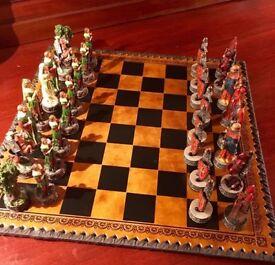 Quality Robin Hood chess set like new!
