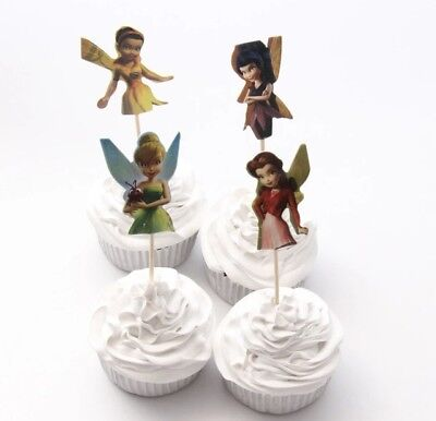 Tinkerbell Birthday Theme (NEW Disney Tinkerbell Fairies Theme Character Cupcake Toppers x 24 - For)