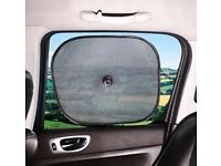 50 packs of 2 Car Window Sunshades by Sakura Twin Pack Protection, Privacy & Comfort