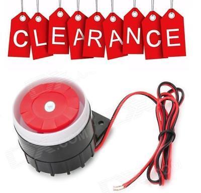 9 - 12V INTERNAL & EXTERNAL SOUNDER SIREN BLACK RED ALARM ALERT for sale  Leicester