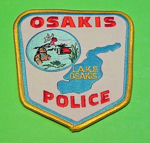 "OSAKIS  MINNESOTA  MN  LAKE OSAKIS  POLICE PATCH  4 7/8""  FREE SHIPPING!!!"
