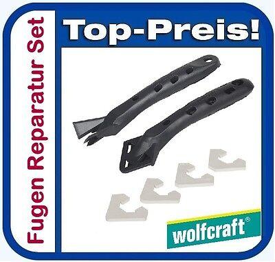 WOLFCRAFT 4364000 Fugen Reparatur Set - Fugenmesser und Fugenglätter