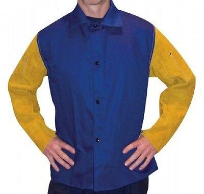Tillman Welding Jacket 9230 Medium Fr Cotton Torso W Leather Sleeves