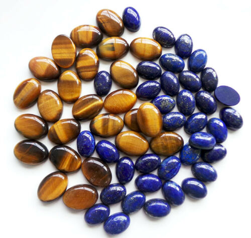 500 Cts Top Quality Natural Tiger Eye & Lapis Lazuli Gemstone Wholesale lot