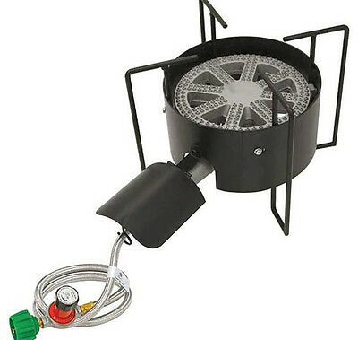 Gas Outdoor Cooker Bayou Classic Banjo Burner Propane Camp Stove Tailgate Steam