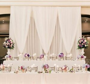 PIPE & DRAPE | Backdrop | Backdrop Stand | Head Table | Wedding