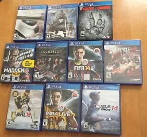 Lot 13 jeux PS4 Star Wars, Evolve, Destiny, Injustice, Evolve, +