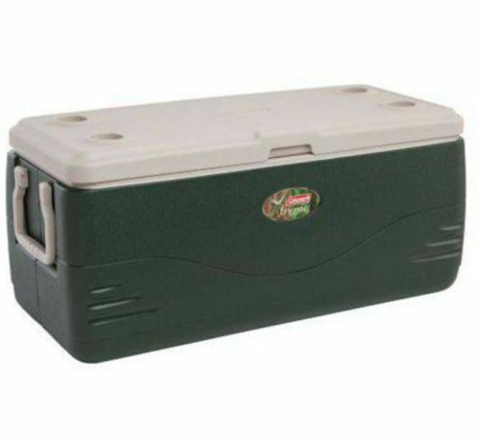 Large Cooler XL Ice Box Cup Holders Table Picnic Camping Gro