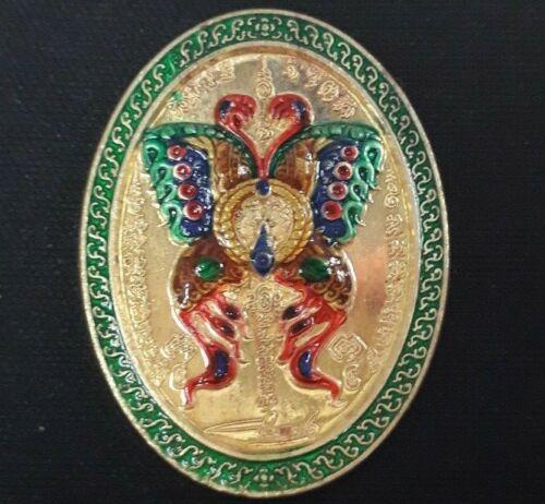 Kruba Krissana Chaosua Coin magnate version Butterfly Charm Rich Thai amulet