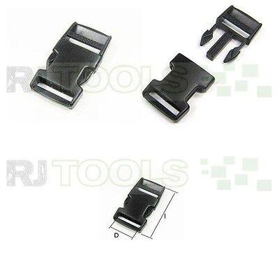 10 x 950052 - Steckschnalle 25 mm Kunststoff Steckverschluss für Gurtband