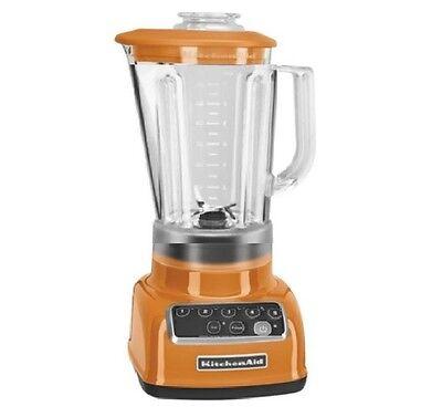 KitchenAid RR-KSB1570TG 5-Speed Blender Int Crush Ice Diamond Pitcher Tangerine