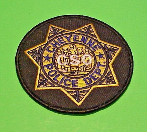 """CHEYENNE  WYOMING  WY  ( CSO )  POLICE PATCH  3 1/2""""  FREE SHIPPING!!!"""