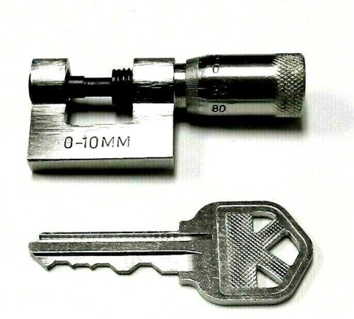 Mini Micrometer 10mm Small Micrometer Pocket Size Metric 0-10mm x 0.01mm
