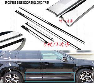 For 2014 2015 Subaru Forester Chrome Side Door Body Moulding Trim Garnish Strips