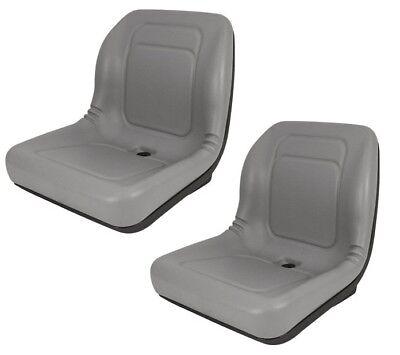 Set Of 2 High Back Seats For John Deere Trail Worksite Turf Gator 4x2 6x4 Gray