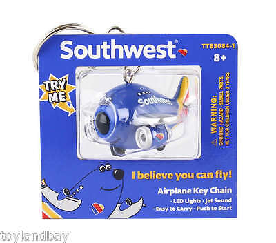 Keychain Southwest Airlines SWA New Livery Boeing 737 With LED Lights & Sound