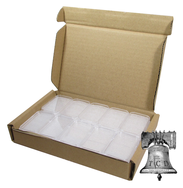 25 Silver Bar Holder 1oz Ag Direct Fit Capsule 1 oz Bars Guardhouse Storage Case