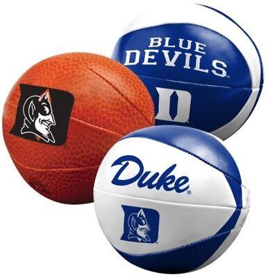 "Rawlings Duke Blue Devils Collegiate Softee 3 Pack 4"" Basketball Set NEW"