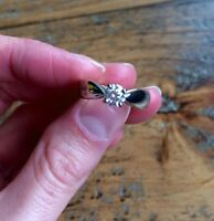 Stunning solitaire white gold diamond ring