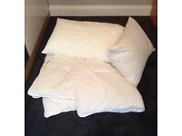 SINGLE BED SIZE DUVET & PILLOWS
