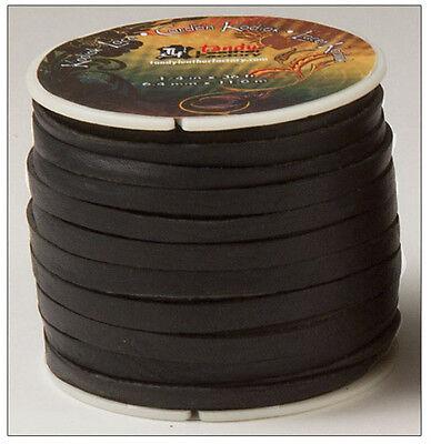 "Kodiak Lace 1/4"" x 36 ft. Black by Tandy - FREE SHIPPING!"