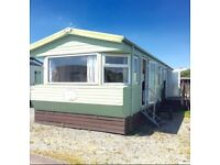 Static caravan holiday home deck inc site fees inc 12 month Morecambe north west not haven