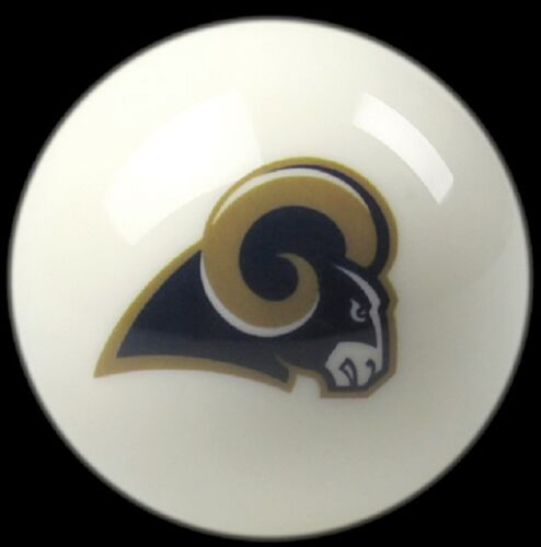 LOS ANGELES RAMS WHITE NFL TEAM BILLIARD GAME POOL TABLE CUE 8 BALL REPLACEMENT