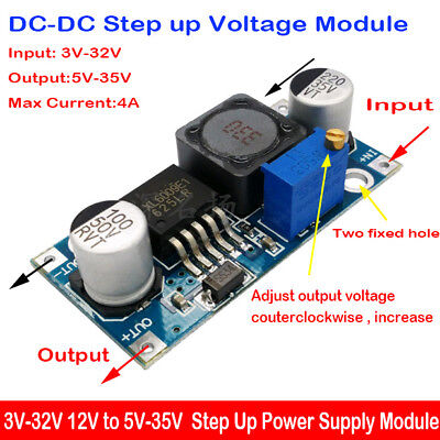 Dc-dc 4a Boost Converter 3v-32v To 5v-35v 6v 12v 24v Step Up Power Supply Module