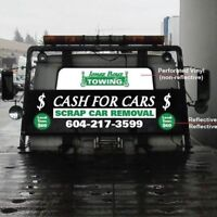 Cash Up to $150 in hand for your junk car or truck
