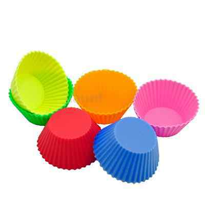 12pcs Soft Round Silicone Cake Muffin Chocolate Cupcake Liner Baking Cup Mold
