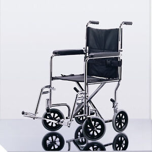 NEW IN BOX  FOLDING TRANSPORT WHEELCHAIR  lightweight portable