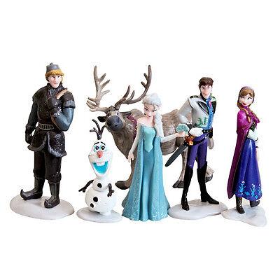 Die Eiskönigin Frozen 6 Figuren Set Anna Elsa Olaf Hans Sven Christof 7-10 CM
