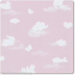 P&S Happy Kids Baby Wolken Tapete Tiere Herzen rosa weiß Kinder Papier 05572-20