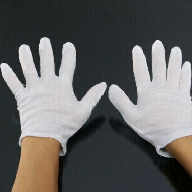 White Glove Ghost-step Dance Hip-Hop Jewelry Coins Silver Inspection 1 Pair