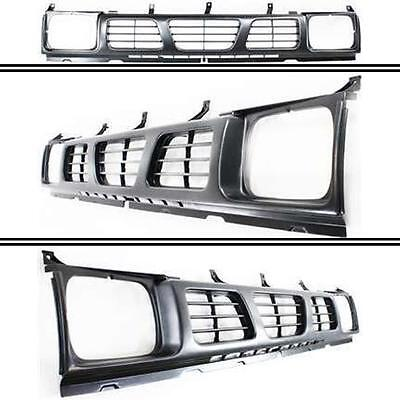 New Front Gray Grille with Headlight Holes for Nissan D21 / Pickup 1993-1997