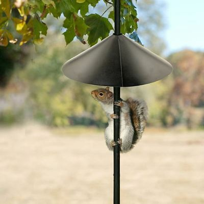 "Wrap Around 18"" Metal Squirrel Baffle Bird Feeder Pole 1/2""-1-3/8"" Post Mount"