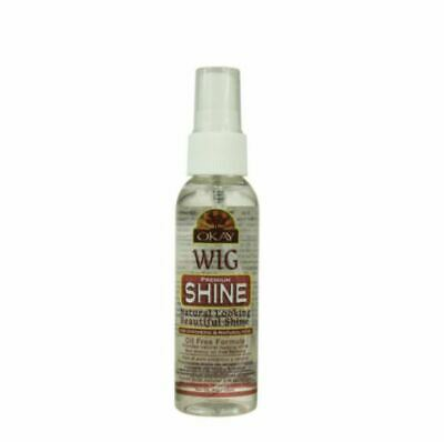 Okay Wig Shine Premium All Natural & Synthetic Hair Oil Free Easy Comb Spray 2oz All Natural Hair Spray